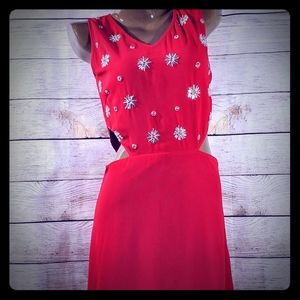 Red Balboa Gown